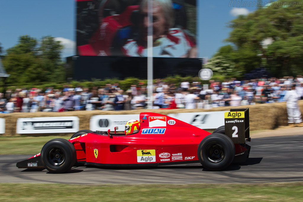 Ferrari 641 F1 - Chassis: 120 - Driver: Olivier Beretta  - 2017 Goodwood Festival of Speed