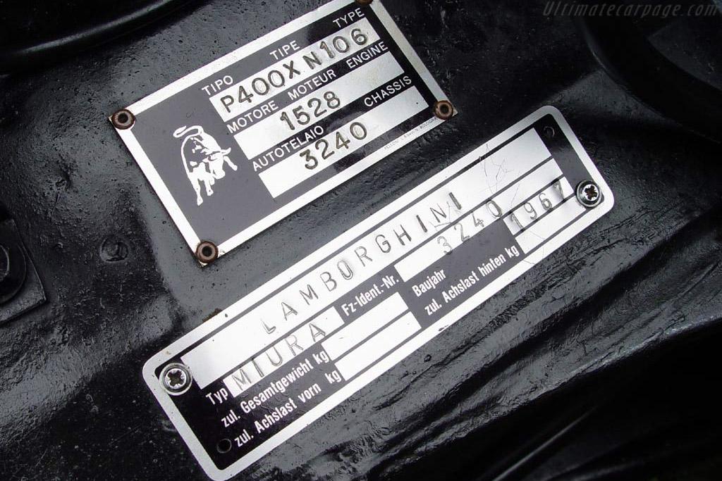 Lamborghini Miura P400 - Chassis: 3240   - 2003 European Concours d'Elegance