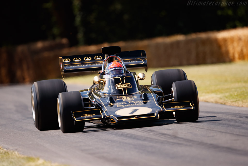 Lotus 72 Cosworth - Chassis: R5 - Driver: Emerson Fittipaldi - 2019 Goodwood Festival of Speed