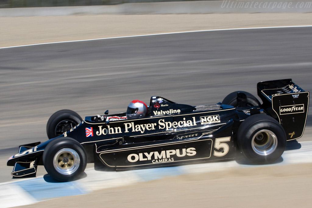 Lotus 79 Cosworth - Chassis: 79/4 - Driver: Mario Andretti  - 2008 Monterey Historic Automobile Races