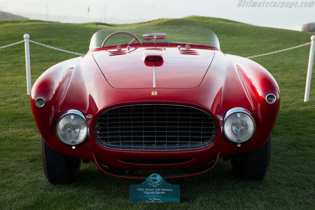 Ferrari 340 Mexico Vignale Spyder - Chassis: 0228AT   - 2015 Pebble Beach Concours d'Elegance