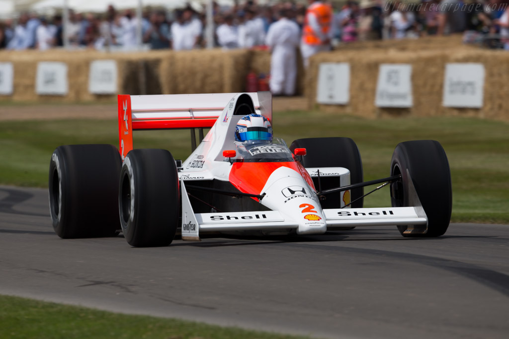 McLaren MP4/5 Honda - Chassis: MP4/5-5 - Driver: Nyck de Vries  - 2015 Goodwood Festival of Speed
