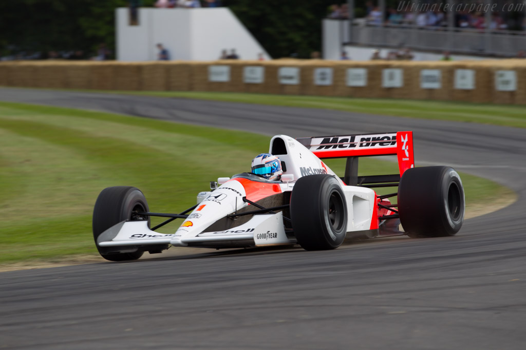 McLaren MP4/6 Honda - Chassis: MP4/6-10 - Driver: Nyck de Vries  - 2015 Goodwood Festival of Speed