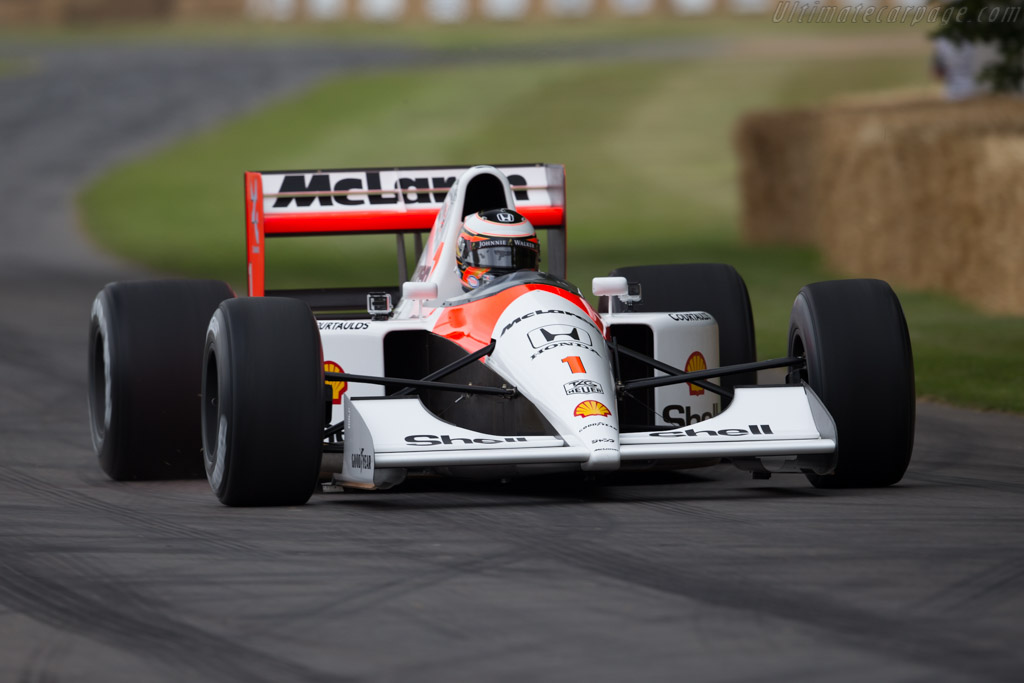 McLaren MP4/6 Honda - Chassis: MP4/6-10 - Driver: Stoffel van Doorne  - 2015 Goodwood Festival of Speed