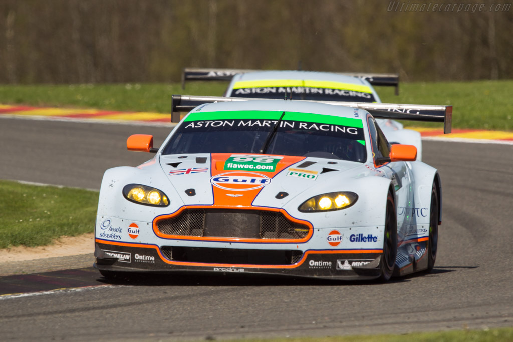 Aston Martin V8 Vantage GTE - Chassis: GTE-005 - Entrant: Aston Martin Racing - Driver: Bruno Senna / Rob Bell / Frederic Makowiecki  - 2013 WEC 6 Hours of Spa-Francorchamps