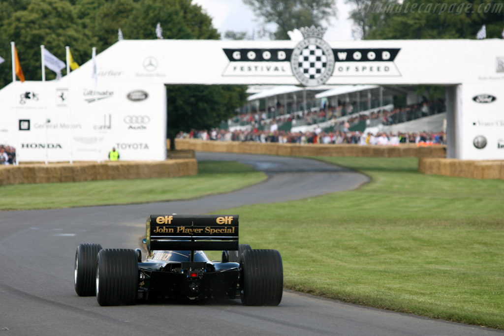 Lotus 98T Renault - Chassis: 98T - 4   - 2007 Goodwood Festival of Speed