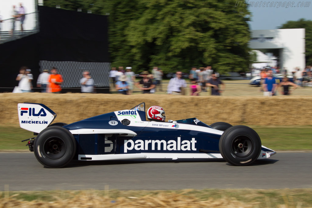 Brabham BT52 BMW - Chassis: BT52-1 - Entrant: BMW Group Classic - Driver: Nelson Piquet  - 2013 Goodwood Festival of Speed