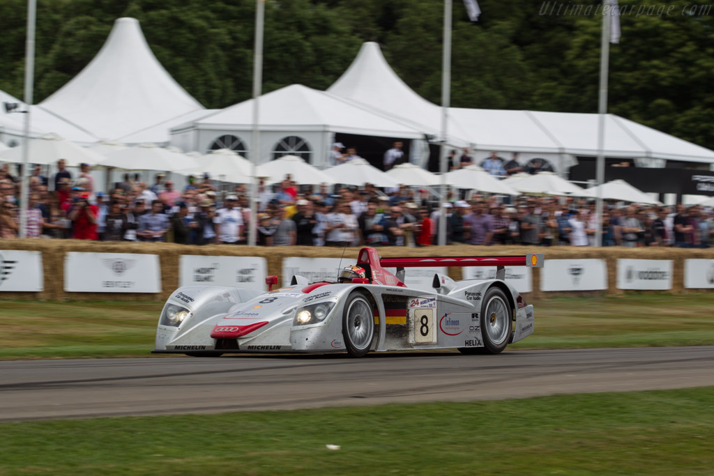 Audi R8 - Chassis: 404 - Driver: Tom Kristensen  - 2017 Goodwood Festival of Speed