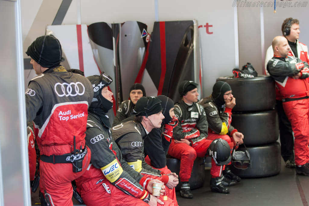 Audi pit box    - 2012 WEC 6 Hours of Spa-Francorchamps