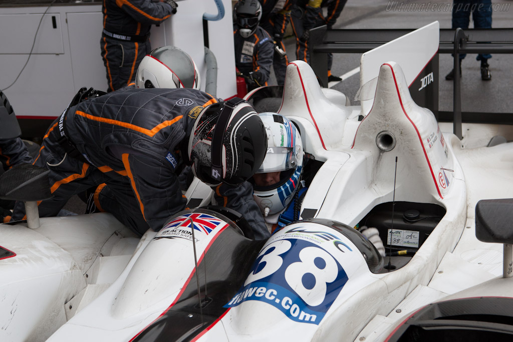 Sam Hancock strapped in    - 2012 WEC 6 Hours of Spa-Francorchamps