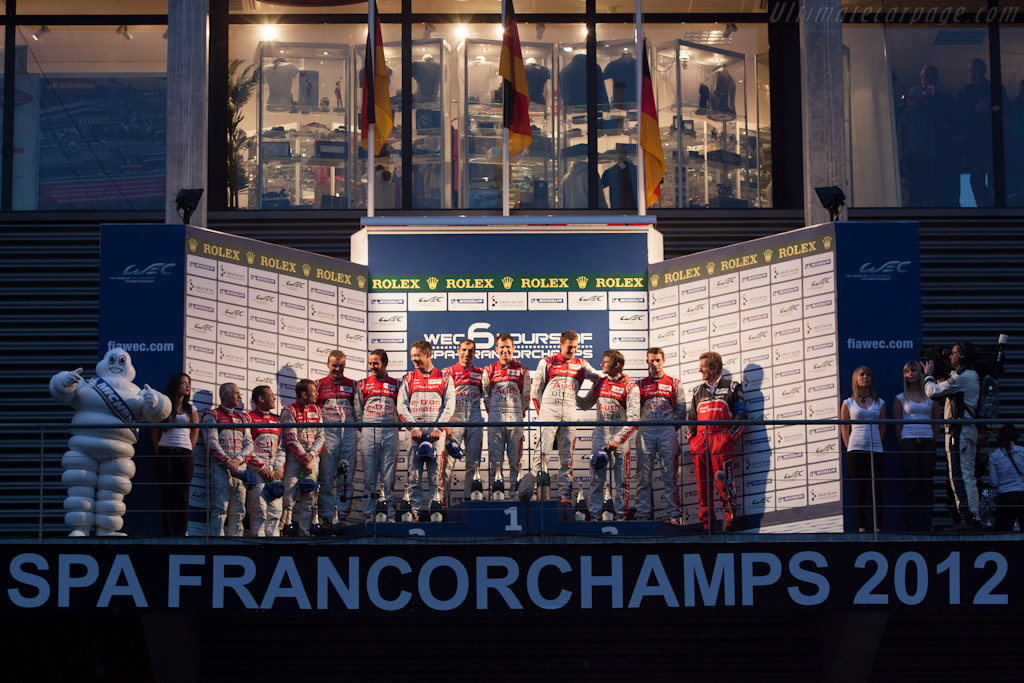 The podium    - 2012 WEC 6 Hours of Spa-Francorchamps