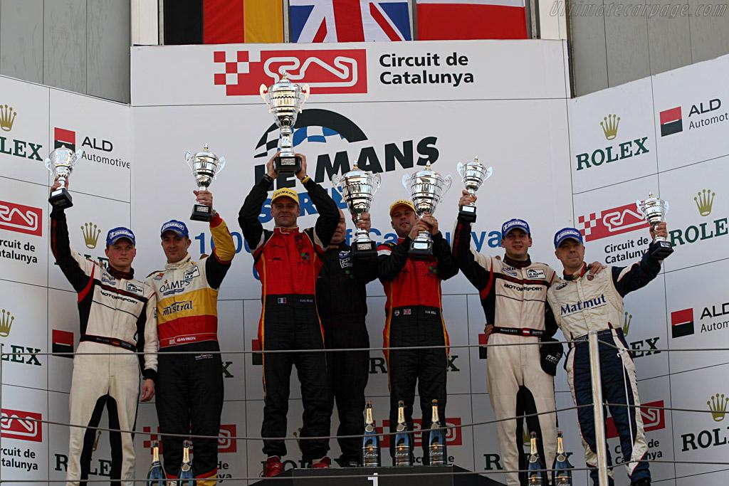 GT2 Podium    - 2008 Le Mans Series Catalunya 1000 km