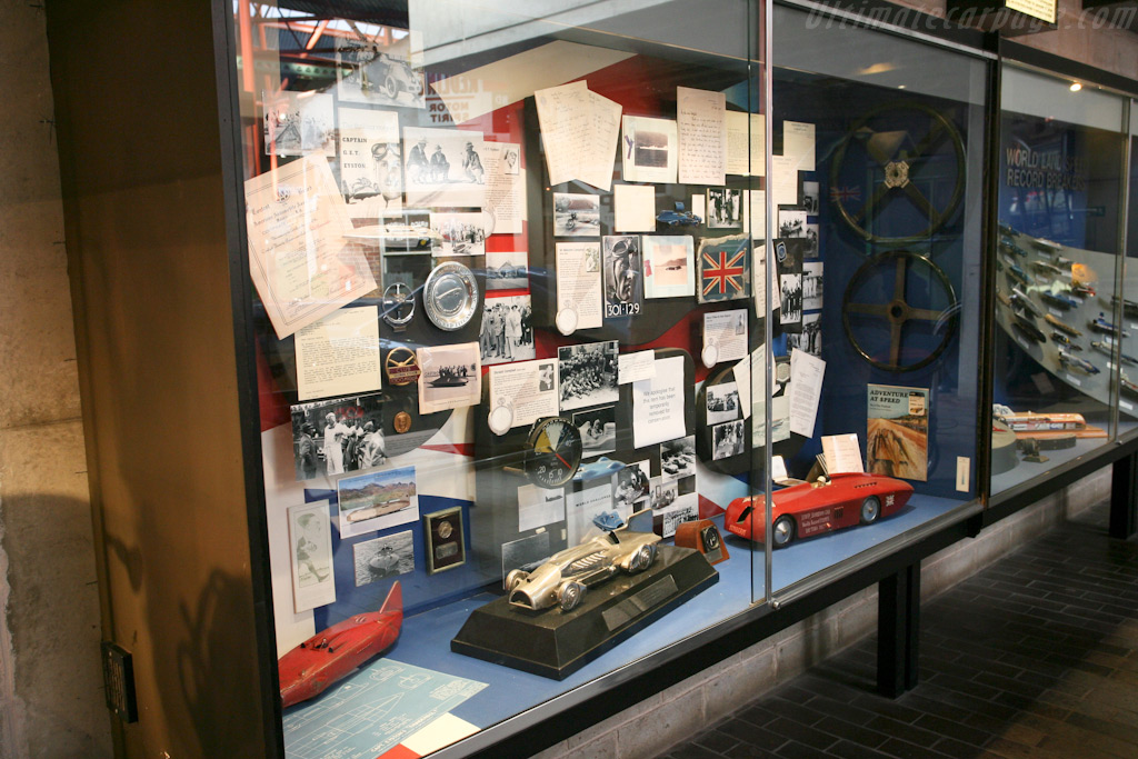 Land Speed Record display    - British National Motor Museum Visit