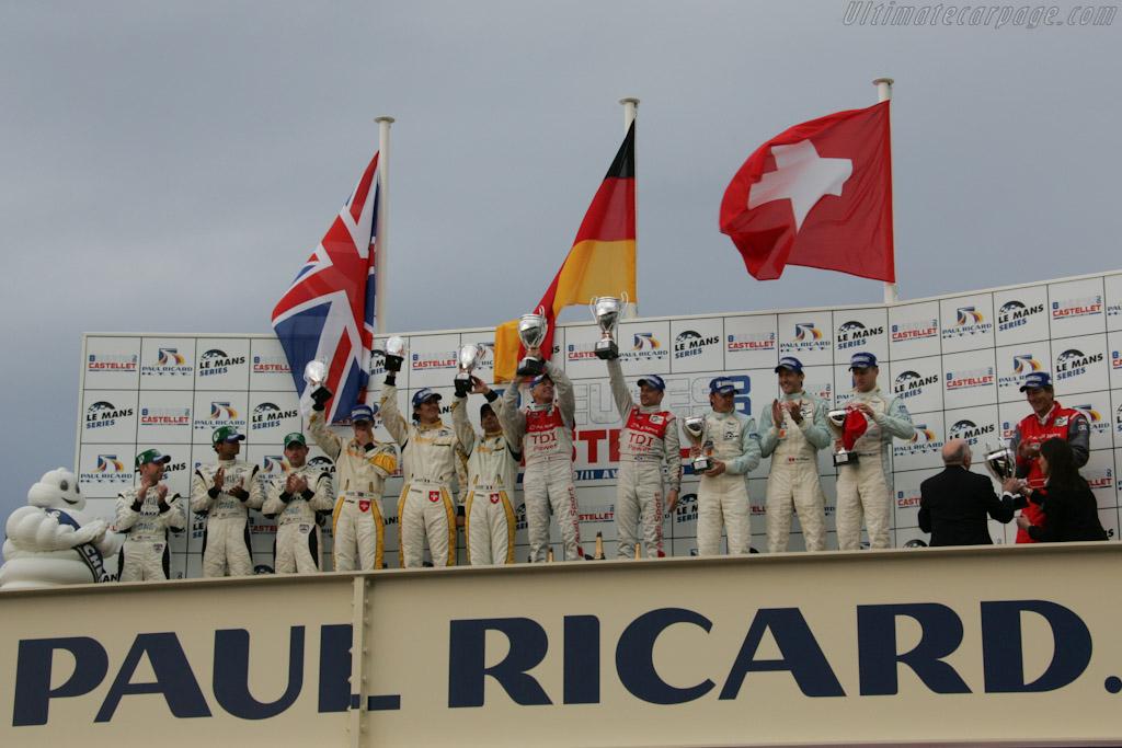 The LMP1 Podium    - 2010 Le Mans Series Castellet 8 Hours