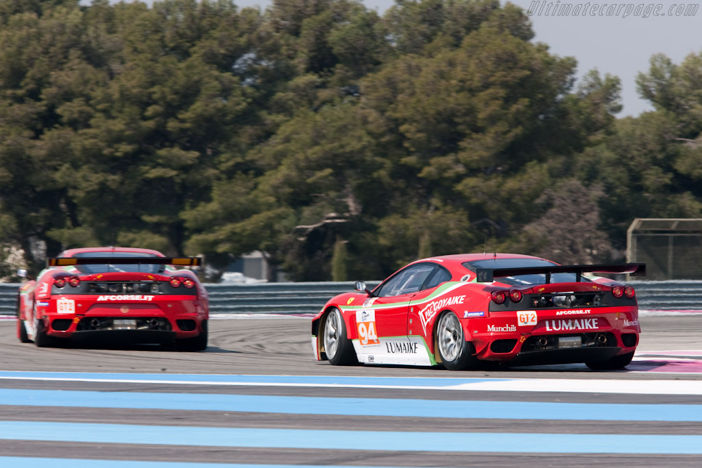 Two of AF Corse's three Ferraris - Chassis: 2624   - 2010 Le Mans Series Castellet 8 Hours