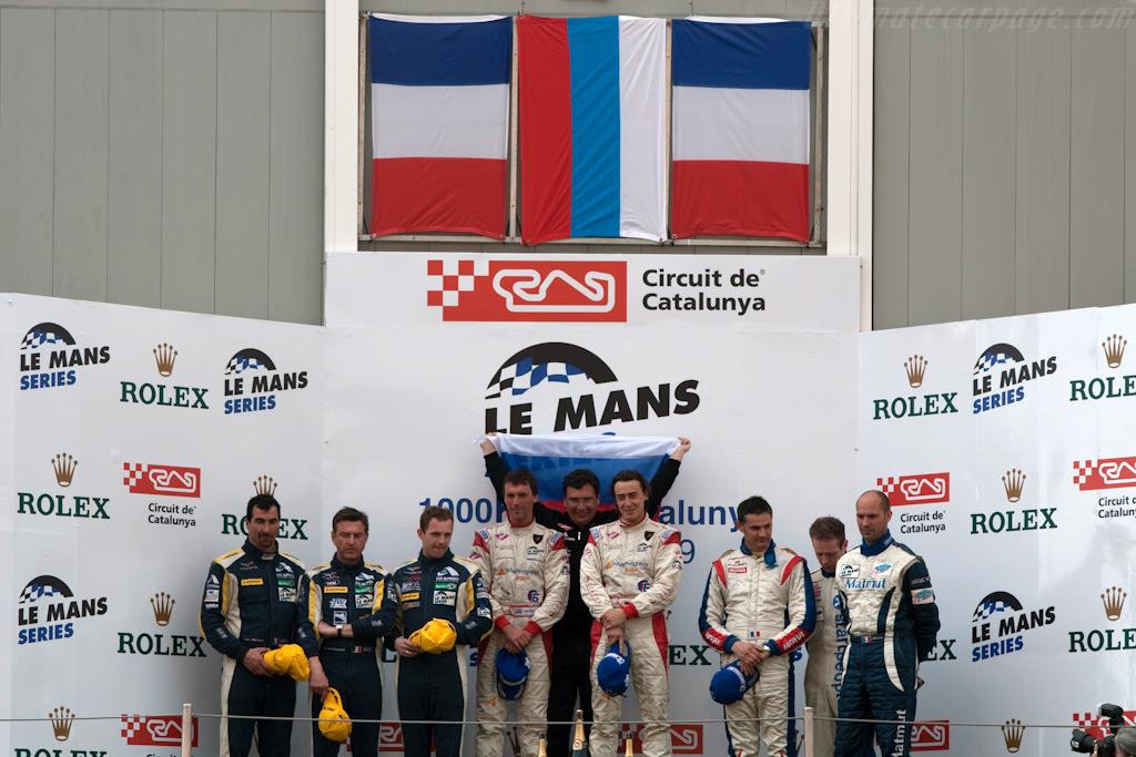 GT1 podium    - 2009 Le Mans Series Catalunya 1000 km