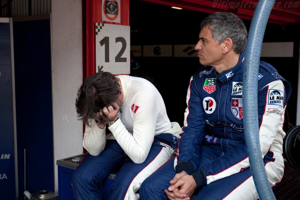 Gosselin mad at himself after coming together with a backmarker    - 2009 Le Mans Series Catalunya 1000 km