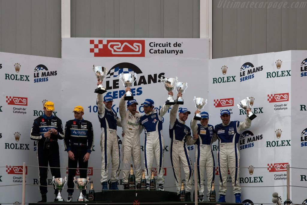 LMP2 podium    - 2009 Le Mans Series Catalunya 1000 km