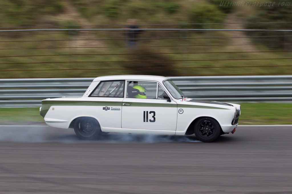 Lotus Cortina  - Driver: Graham Wilson / Andy Wolfe  - 2014 Historic Grand Prix Zandvoort