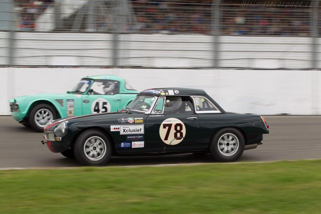 MG B  - Driver: Edwin Dijkman  - 2014 Historic Grand Prix Zandvoort