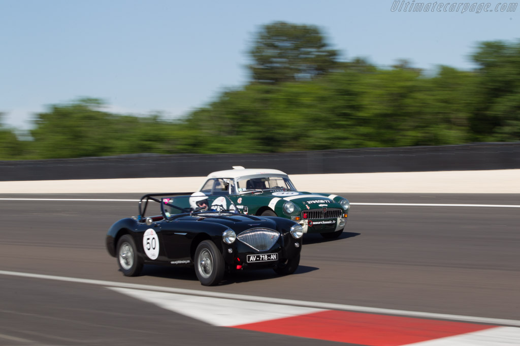 Austin Healey 100M - Chassis: BN2L/231478 - Driver: Jean-Marie Fabre / Jean Berchon  - 2014 Grand Prix de l'Age d'Or