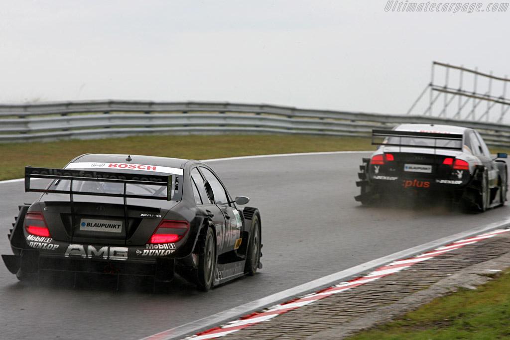 Hakkinen chasing Abt    - 2007 DTM Zandvoort
