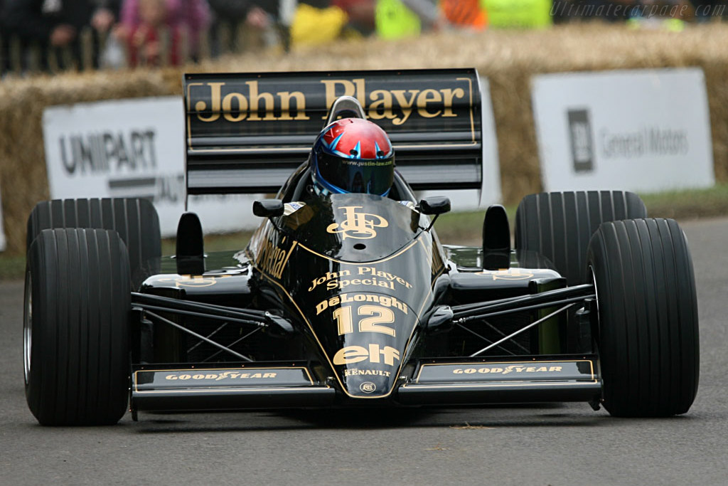 Lotus 98T - Chassis: 98T - 4 - Driver: Justin Law  - 2007 Goodwood Festival of Speed