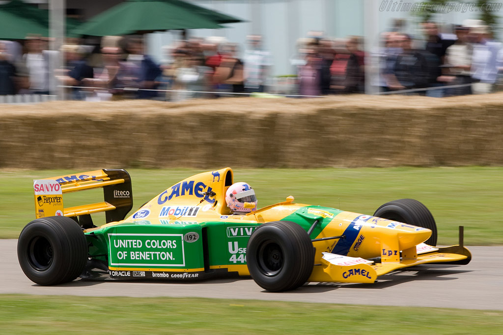 Benetton B192 Cosworth - Chassis: B192-08 - Driver: Lorina McLaughlin  - 2008 Goodwood Festival of Speed