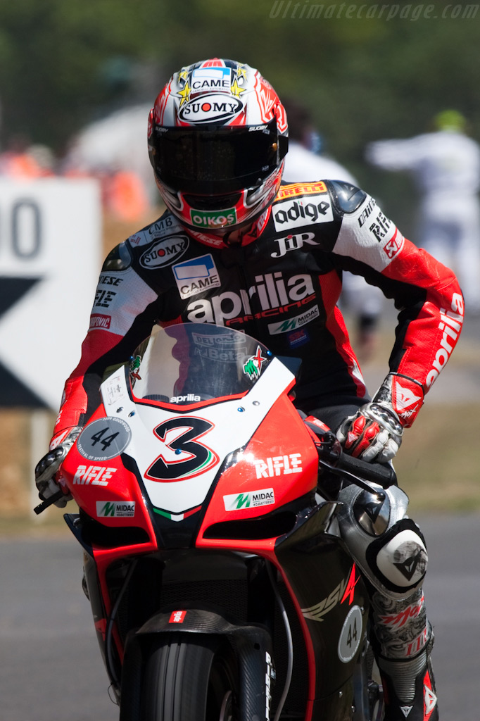 Aprilia RSV4 (Max Biagi)    - 2009 Goodwood Festival of Speed