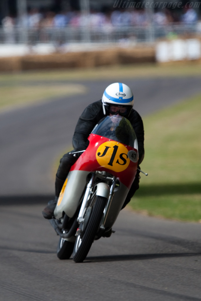 John Surtees on his MV Agusta 500    - 2009 Goodwood Festival of Speed