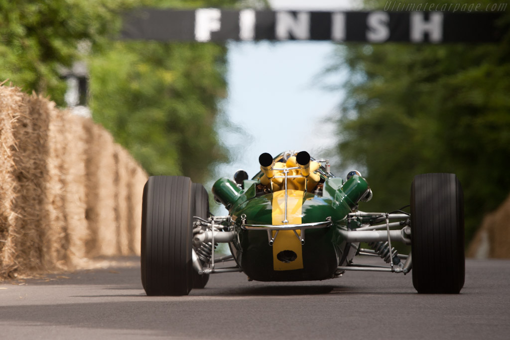 Lotus 38 Ford - Chassis: 38/1 - Entrant: The Henry Ford Museum - Driver: Sir Jackie Stewart  - 2010 Goodwood Festival of Speed