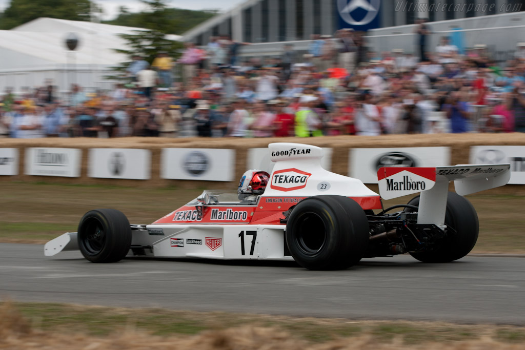 McLaren M23 Cosworth - Chassis: M23-4 - Driver: Emerson Fittipaldi - 2010 Goodwood Festival of Speed