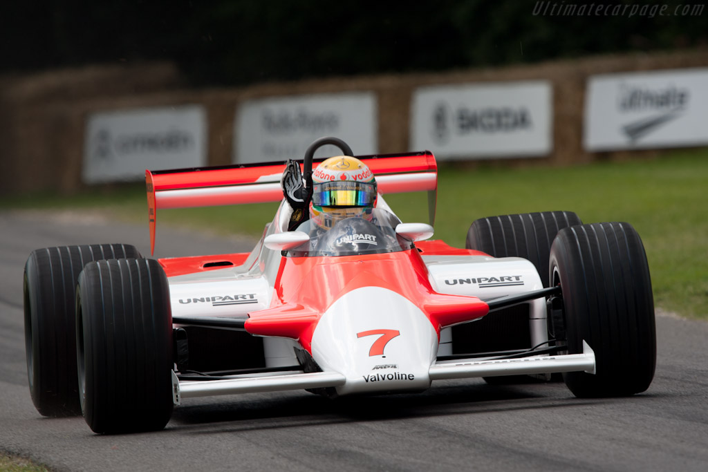 McLaren MP4/1 Cosworth - Chassis: MP4/1-1 - Entrant: McLaren International - Driver: Lewis Hamilton  - 2011 Goodwood Festival of Speed