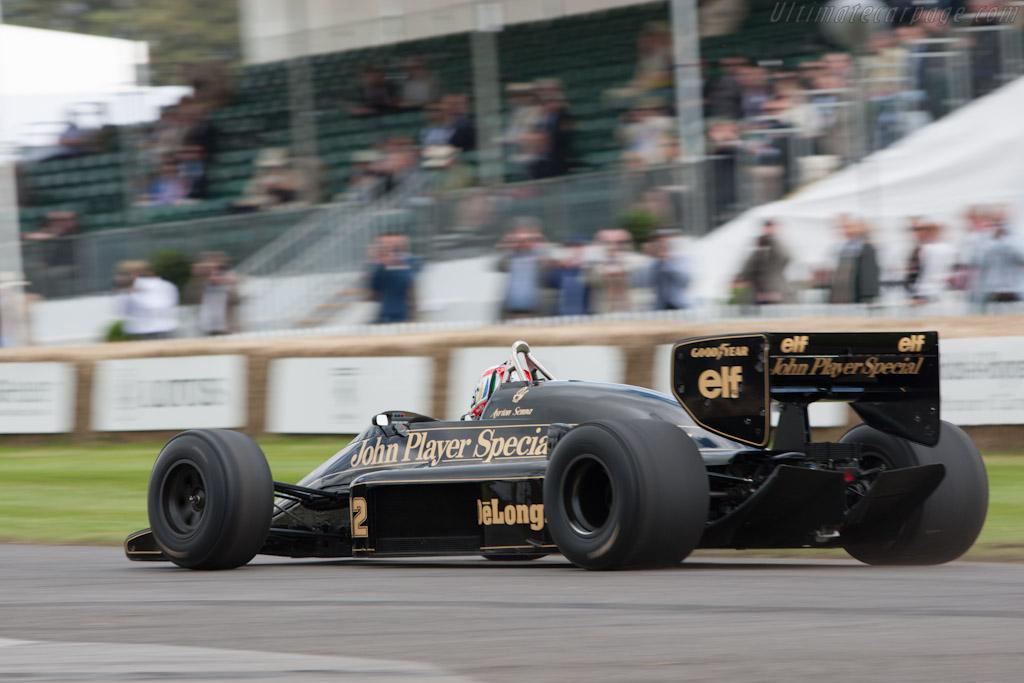 Lotus 98T Renault - Chassis: 98T - 3 - Driver: Tom Kristensen  - 2012 Goodwood Festival of Speed