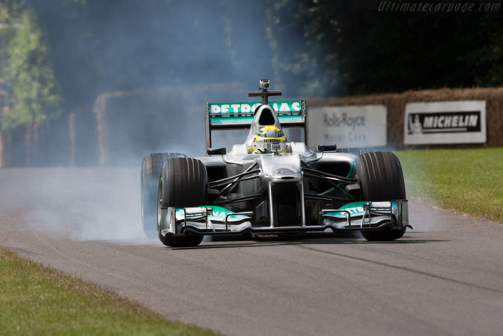 Mercedes-Benz W02  - Driver: Nico Rosberg  - 2012 Goodwood Festival of Speed