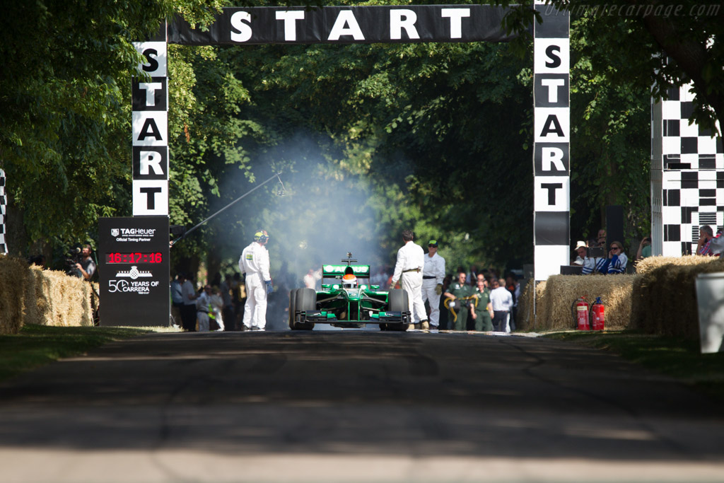 Caterham T127 Cosworth  - Driver: Charles Pic  - 2013 Goodwood Festival of Speed