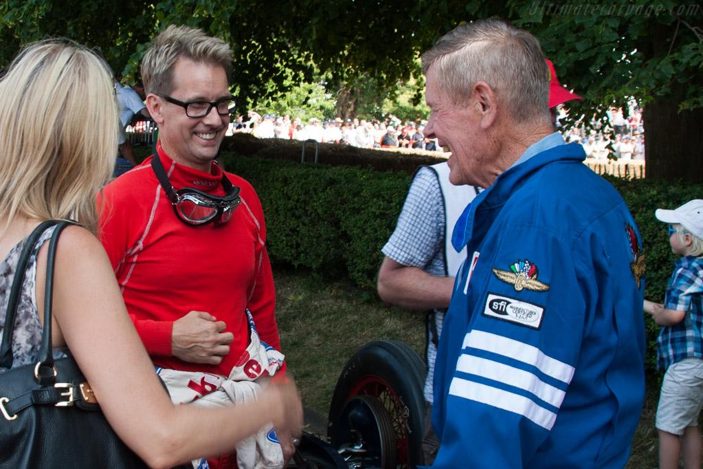 Kenny Brack and Bobby Unser    - 2013 Goodwood Festival of Speed