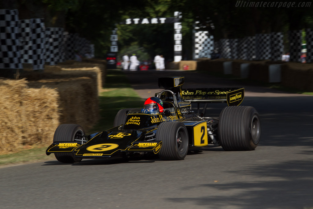 Lotus 72 Cosworth - Chassis: R5-2 - Entrant: Classic Team Lotus - Driver: Emerson Fittipaldi  - 2013 Goodwood Festival of Speed