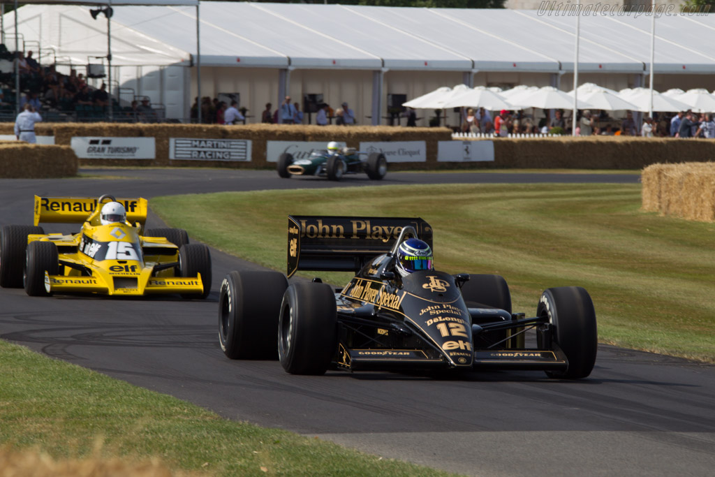 Lotus 98T Renault - Chassis: 98T - 4 - Entrant: Patrick Morgan - Driver: Gary Ward  - 2013 Goodwood Festival of Speed
