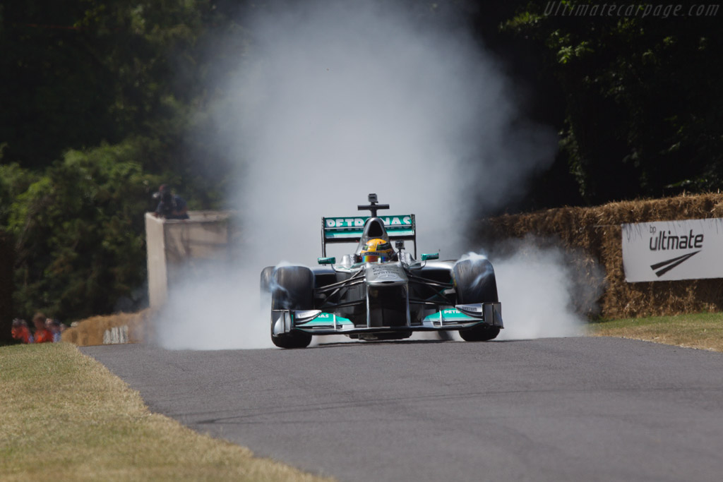 Mercedes-Benz W02  - Driver: Lewis Hamilton  - 2013 Goodwood Festival of Speed