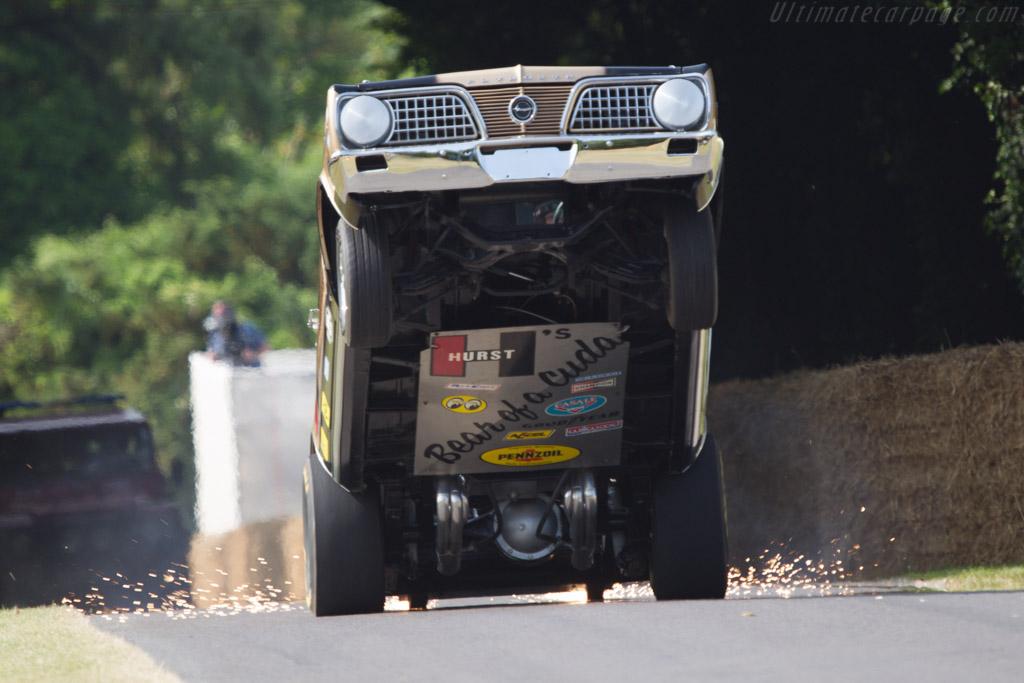 Plymouth Barracuda 'Hurst Hemi Under Glass'  - Driver: Bob Riggle  - 2013 Goodwood Festival of Speed
