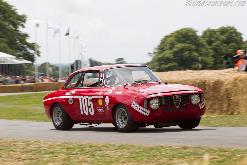 Alfa Romeo 1300 GT Junior - Chassis: AR775417 - Entrant: Alfa Romeo Museo Storico - Driver: Toine Hezemans  - 2014 Goodwood Festival of Speed