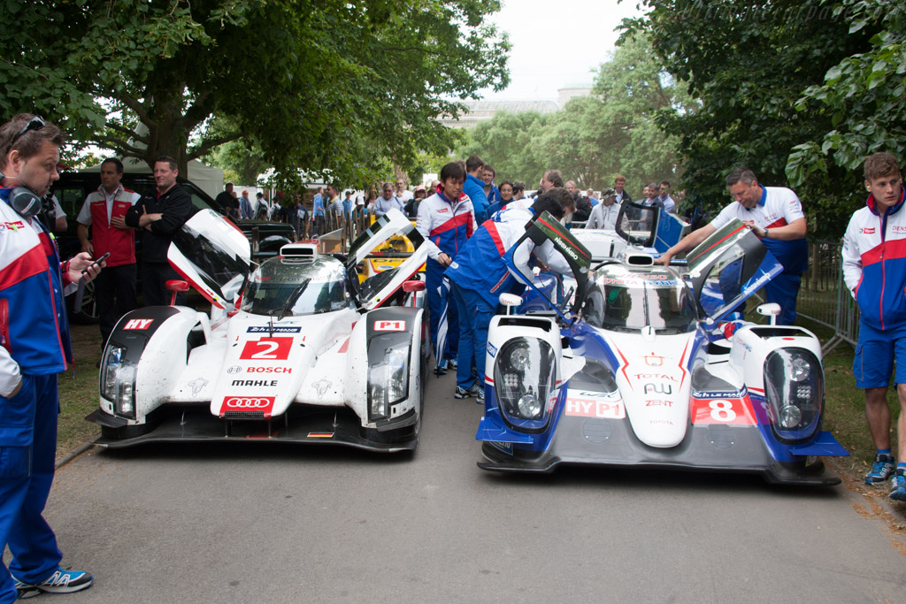Audi R18 e-tron quattro - Chassis: 415 - Entrant: Audi Tradition  - 2014 Goodwood Festival of Speed