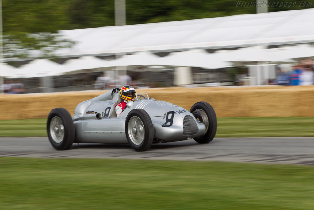 Auto Union Type D - Chassis: 017R - Entrant: Audi Tradition - Driver: Frank Biela  - 2014 Goodwood Festival of Speed