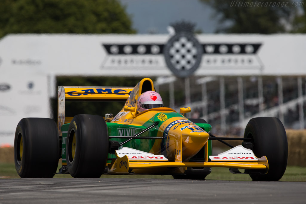 Benetton B192 Cosworth - Chassis: B192-8 - Entrant: THE FORCE - Driver: Lorina McLaughlin  - 2014 Goodwood Festival of Speed
