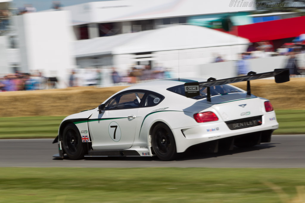 Bentley Continental GT3  - Entrant: Bentley Motors ltd. - Driver: David Brabham  - 2014 Goodwood Festival of Speed
