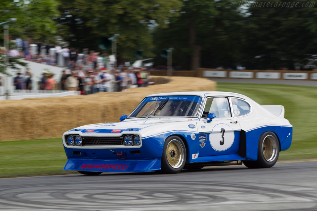 Ford Capri RS - Chassis: BFC 002 - Entrant: Derek Hood - Driver: Chris Ward  - 2014 Goodwood Festival of Speed