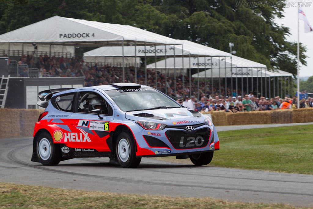 Hyundai i20 WRC  - Entrant: Hyundai Motor UK - Driver: Daniel Sordo  - 2014 Goodwood Festival of Speed