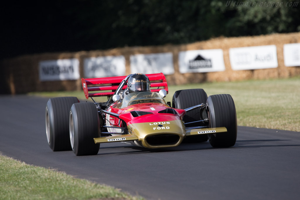 Lotus 49B Cosworth - Chassis: R10 - Entrant: Classic Team Lotus - Driver: Greg Thornton  - 2014 Goodwood Festival of Speed