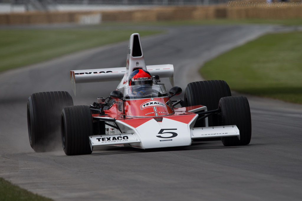 McLaren M23 Cosworth - Chassis: M23-5 - Entrant: McLaren International - Driver: Emerson Fittipaldi  - 2014 Goodwood Festival of Speed
